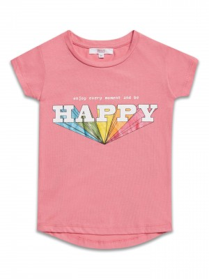 T-shirt z nadrukiem Happy