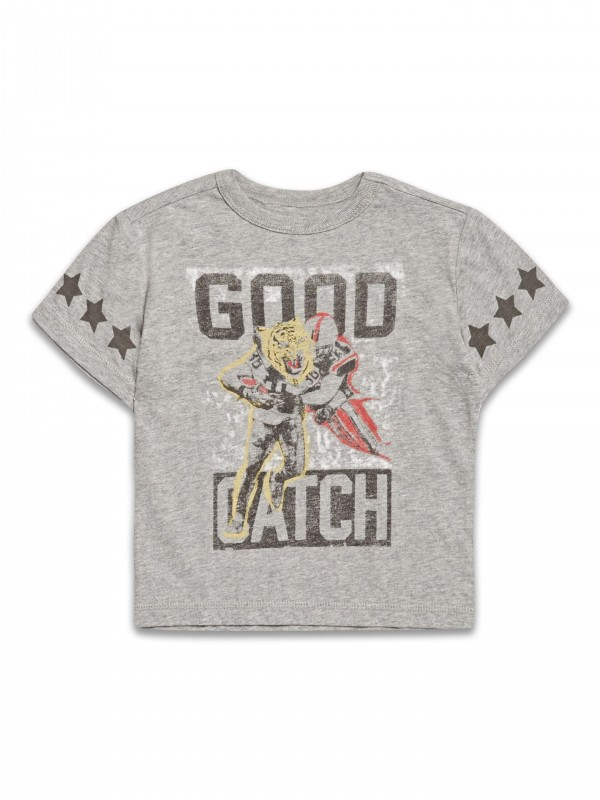 T-Shirt z nadrukiem Good Catch firmy Riot Club, kolor Grey